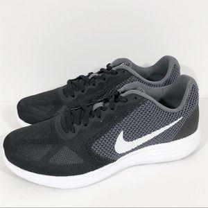 NEW Womens Nike Black & Grey Revolution 3 Sneakers